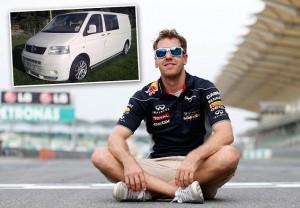 Pentru vacanţe, Vettel şi-a luat de curând un VW Transporter second hand foarte echipat, de 36.000 de euro
