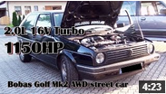 VW Golf 2 si 1.150 CP ?!? Incredibil dar adevarat . Vezi video